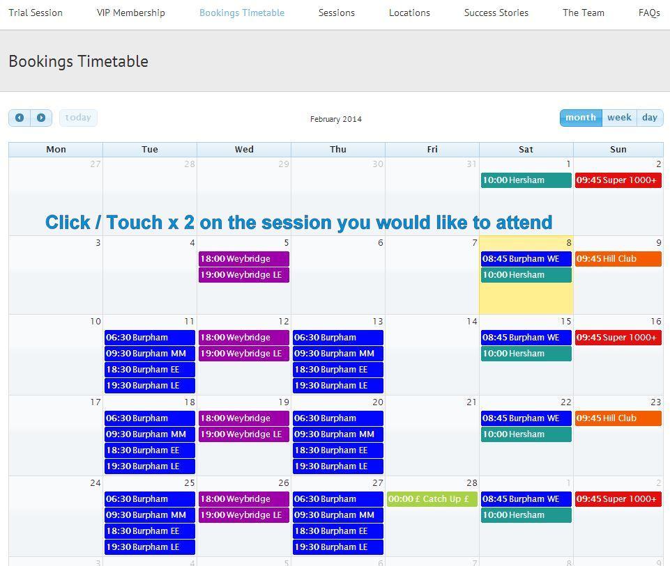 Timetable Photo